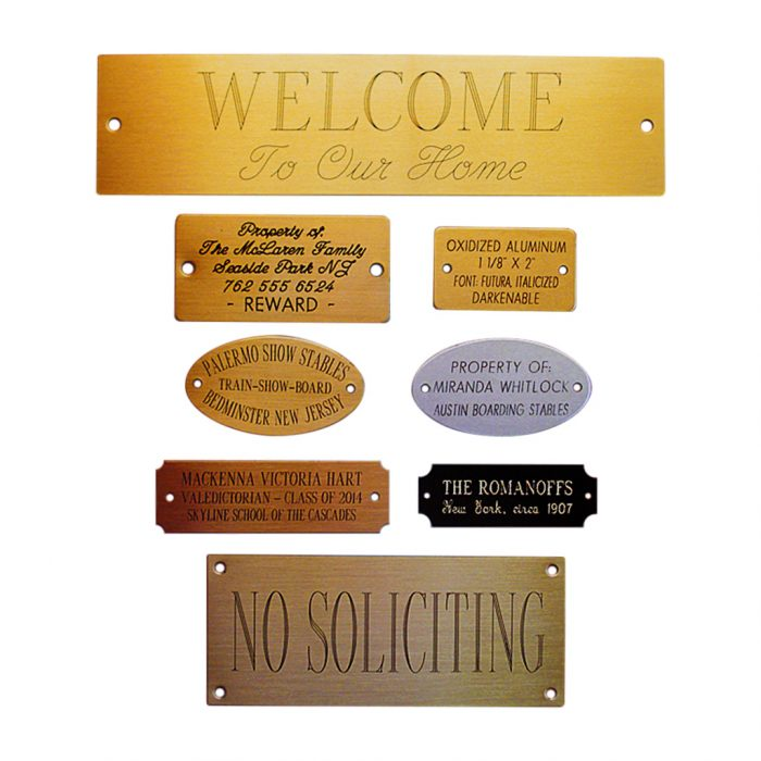 Engraved Decorative Nameplates-full