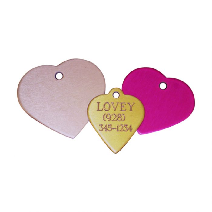 Engraved Heart Pet Tag