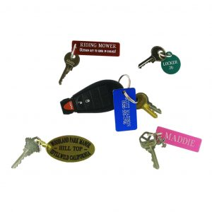 Engraved Metal Key Tags 1