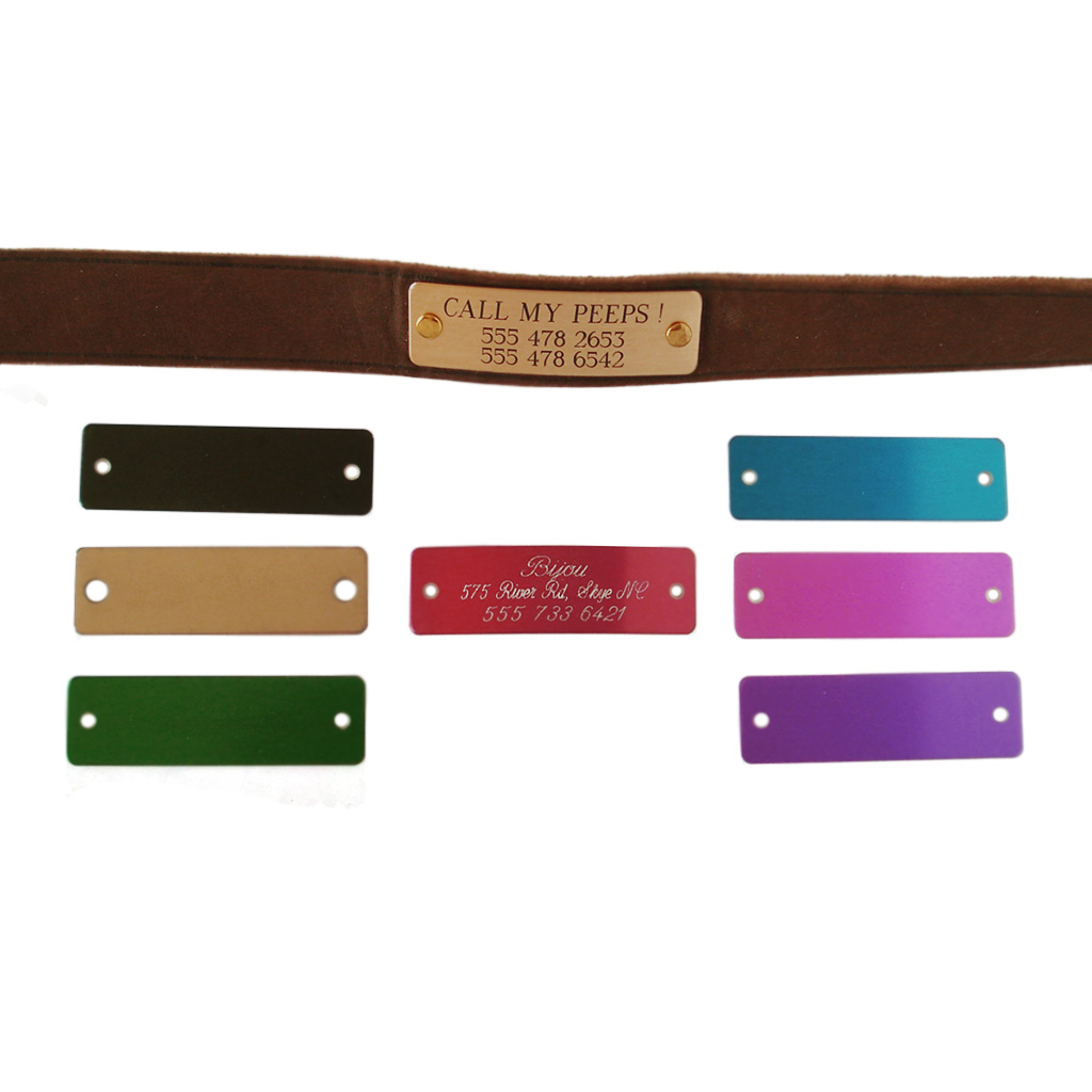 Engraved Metal Pet Collar ID Nameplates