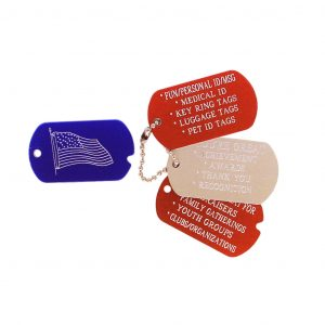 Engraved Mini Military Tag