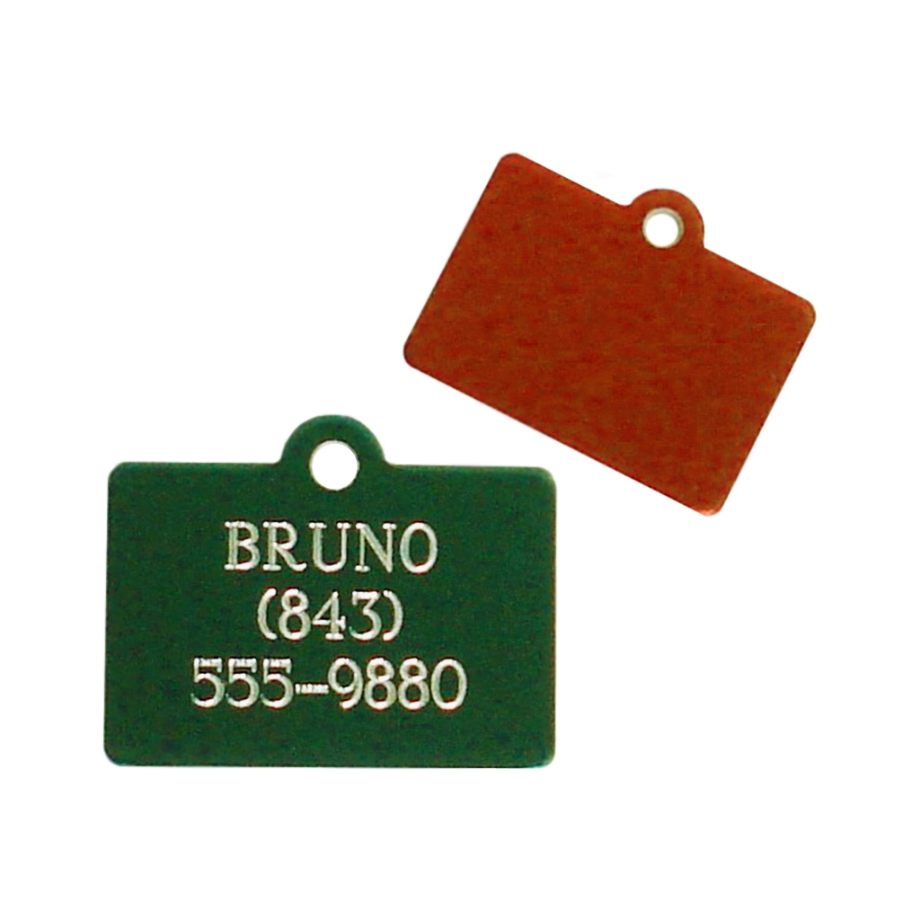 Engraved Rectangle Pet Tag