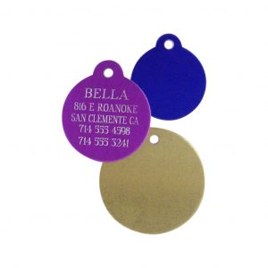 Engraved Round Pet Tag