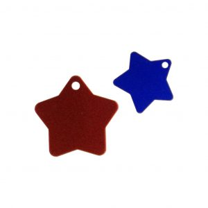 Engraved Star Pet Tag