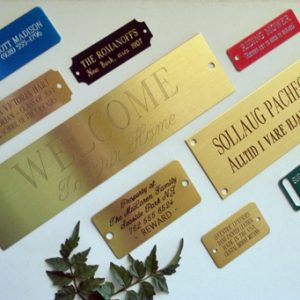 Engraved Tags and Nameplates: Uses, Ideas