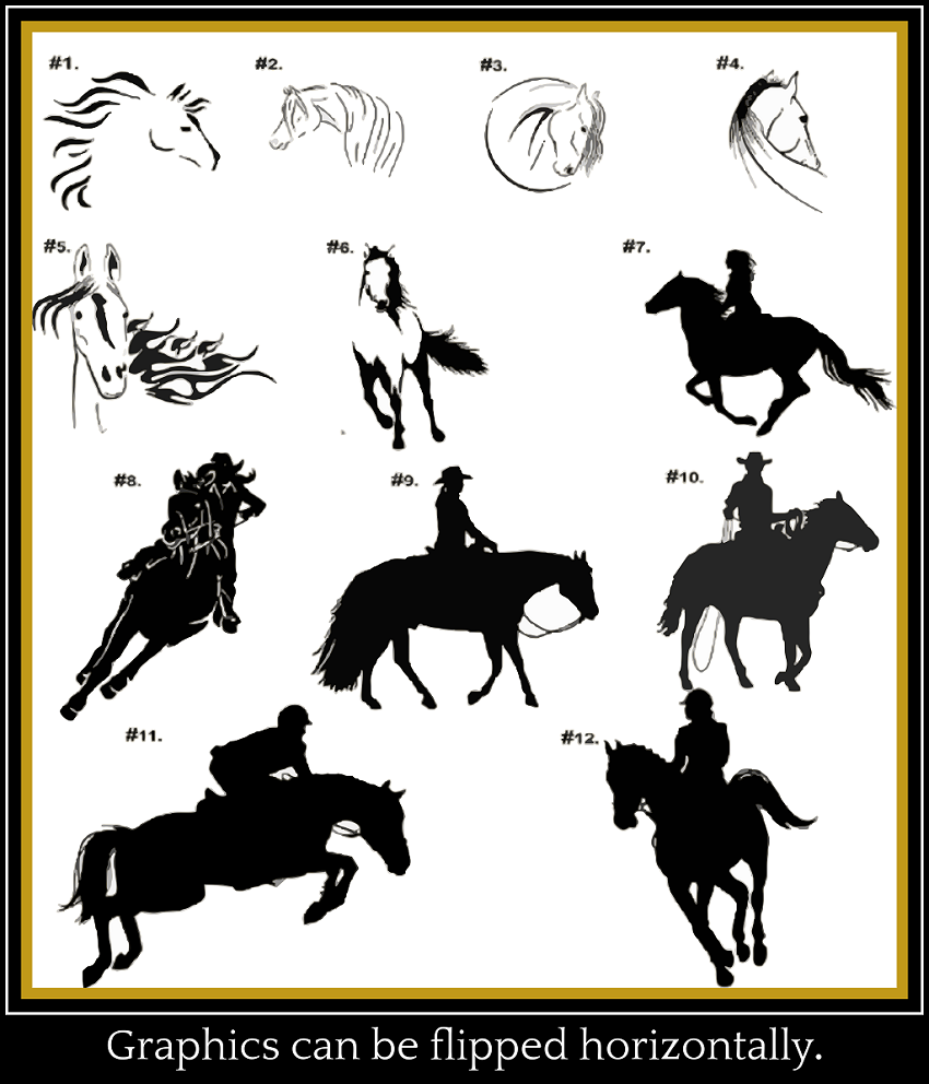 horse graphics for products