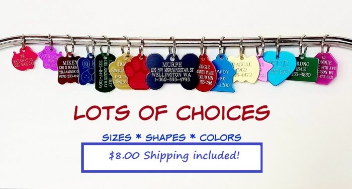 Image of assorted pet tags