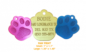 Paw-print with text